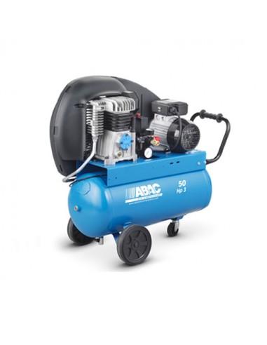 Compresseur d'air à piston réservoir de 50 litres moteur de 3 CV monophasé ABAC