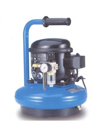 Compresseur d'air silencieux cuve de 6 litres 8 bars 190 W ABAC