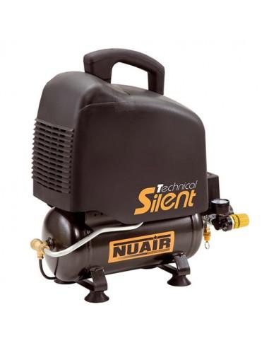 Compresseur sans huile réservoir de 6 litres moteur monophasé de 1 CV NUAIR